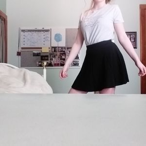 Divided H&M Black Skater Skirt